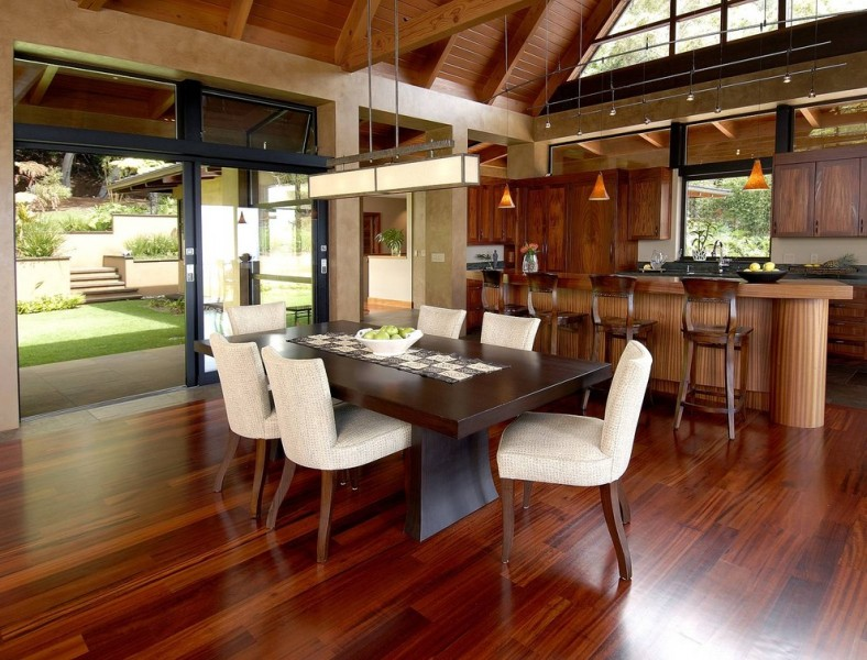 Intermountain Wood Products for Tropical Kitchen with Wood Ceiling