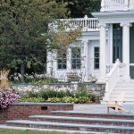 Ionic Columns for Contemporary Landscape with Screen Porch