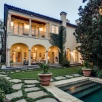 Ionic Columns for Mediterranean Pool with Luxury