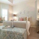 Ionic Columns for Shabby Chic Style Bedroom with Foot of the Bed