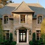 Ionic Columns for Traditional Entry with Stone