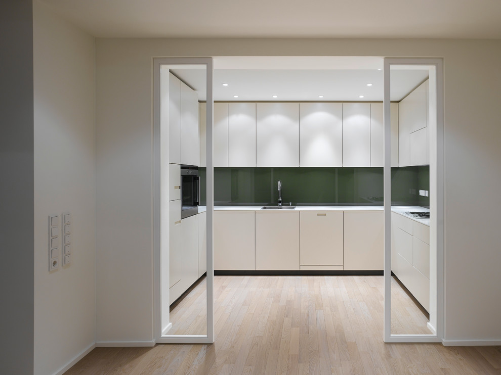 Ippolitos for Contemporary Kitchen with Dunkelgrne Rckwand