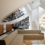 Ippolitos for Contemporary Living Room with Sloped Ceiling