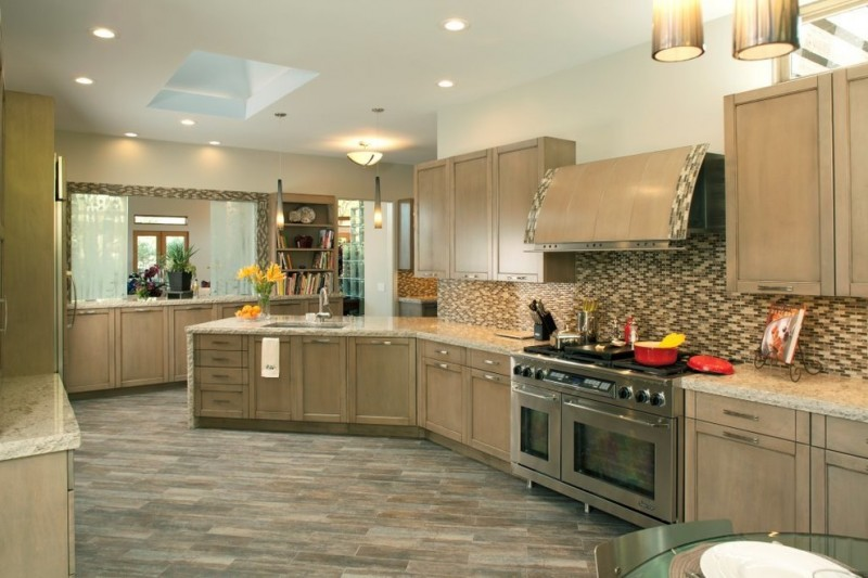 Ironwood Country Club for Contemporary Kitchen with Gray Tile