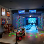 Jacksonville Theater for Modern Home Theater with Bowling Alley