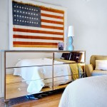Jasper Johns Flag for Contemporary Bedroom with Cabriole Leg