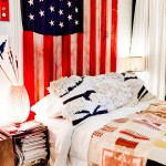 Jasper Johns Flag for Eclectic Bedroom with American Flag