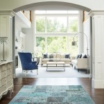 Jasper Johns Flag for Transitional Entry with Area Rug