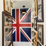 Jasper Johns Flag for Transitional Hall with Union Jack