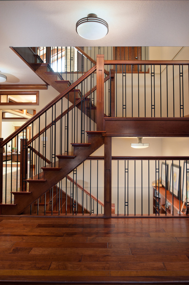 Jatoba for Craftsman Staircase with Wood Floors