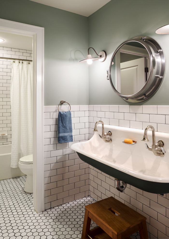 Jeff Lewis Paint for Traditional Bathroom with Modern Farmhouse