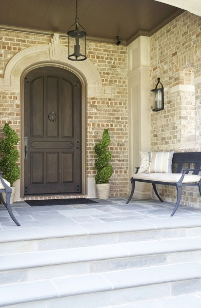 Jenkins Brick for Traditional Entry with Entry Bench