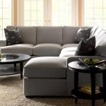 Jennifer Convertible for Traditional Living Room with Gray Sofa