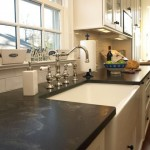 Jet Mist Granite for Traditional Kitchen with Farm Sink