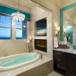 Jimmy Jacobs Homes for Contemporary Bathroom with Aqua Tile