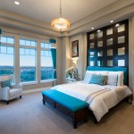 Jimmy Jacobs Homes for Contemporary Bedroom with Aqua Drapes