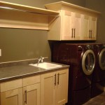 Jordahl Custom Homes for Traditional Laundry Room with Organization