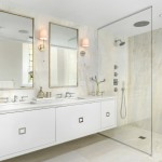 Katonah Hardware for Contemporary Bathroom with Framed Mirror