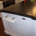 Katonah Hardware for Traditional Kitchen with Recessed Electrical Outlets