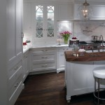 Katonah Hardware for Traditional Kitchen with White Contemporary Kitchen Cabinetry