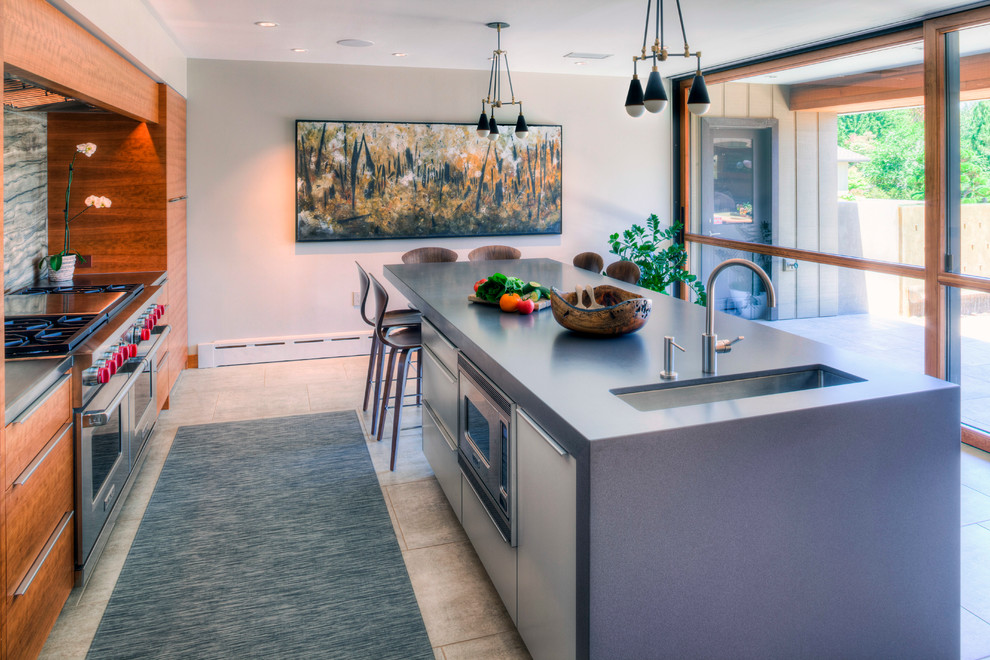 Kaufman Fuel for Contemporary Kitchen with Stainless Steel Hardware