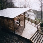 Kayak Shed for Beach Style Garage with Geometric