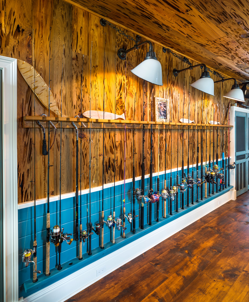 Kayak Shed for Eclectic Shed with Wall Sconces