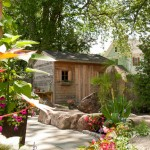 Kayak Shed for Transitional Shed with Landscaping