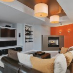 Keller Williams Chattanooga for Contemporary Basement with Gray Wall