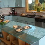 Ken Caryl Glass for Contemporary Kitchen with Black Countertop