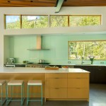 Ken Caryl Glass for Contemporary Kitchen with Wood Ceiling