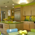 Ken Caryl Glass for Eclectic Kitchen with Color