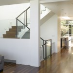 Ken Caryl Glass for Modern Staircase with Ceiling Lighting