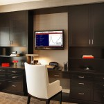 Ken Fulk for Contemporary Home Office with Television