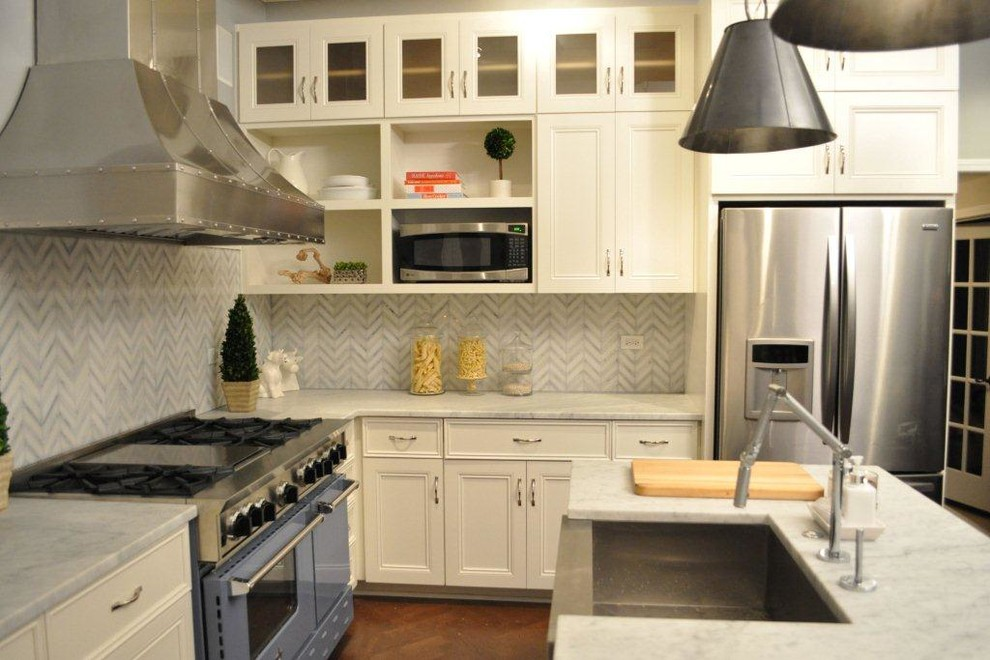 Kitchen Crashers for Traditional Kitchen with Professional Gas Range
