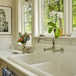 Kitchen Sink Lyrics for Traditional Kitchen with Wall Mount Faucet