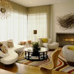 Kneedler Fauchere for Contemporary Living Room with Fireplace Hearth