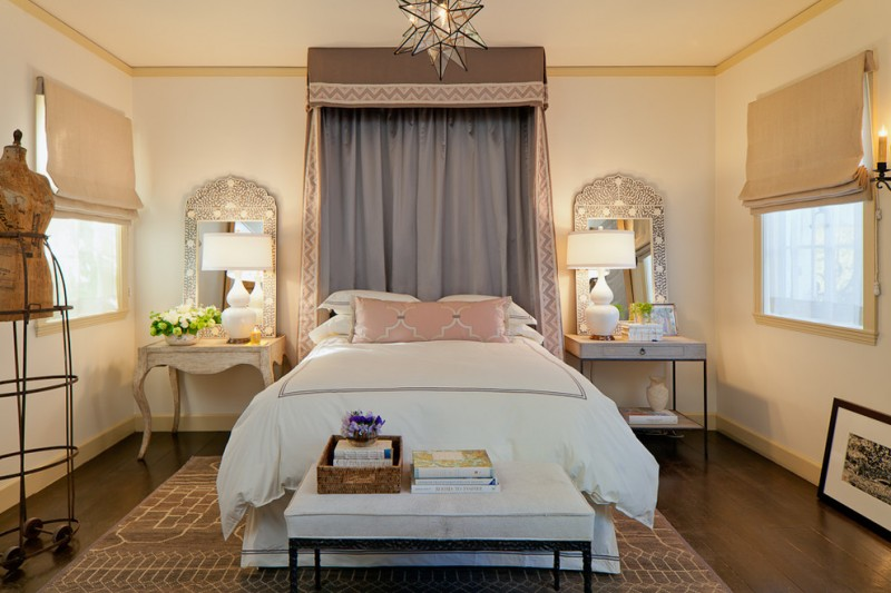 Kneedler Fauchere for Mediterranean Bedroom with Neutral Colors