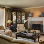 Kneedler Fauchere for Traditional Living Room with White Wood
