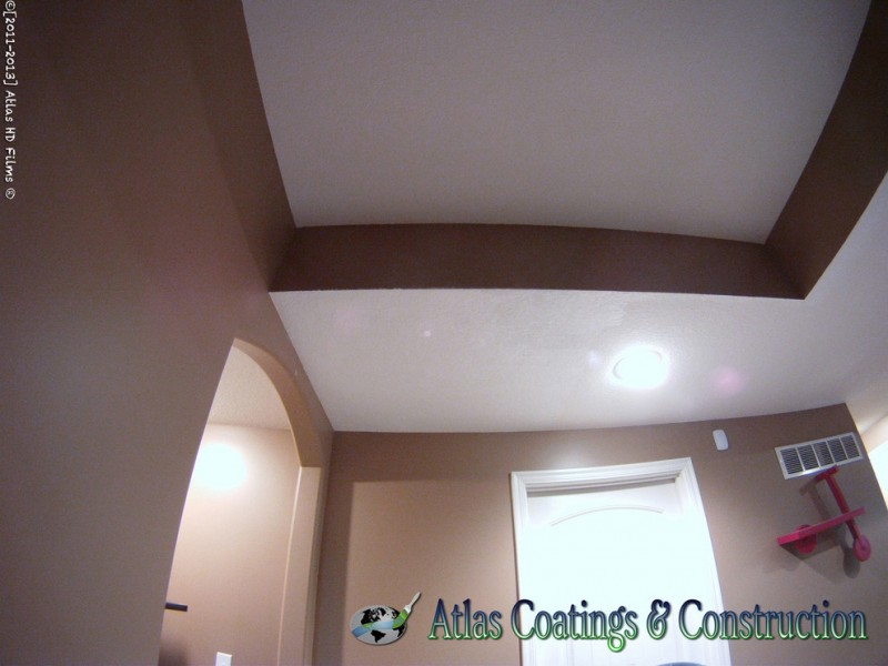 Knockdown Ceiling for Contemporary Basement with Olathe Contractor Olathe Restoration O