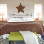 Knotty Pine for Eclectic Bedroom with Brown Blanket