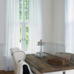 Knotty Pine for Rustic Dining Room with Drapes