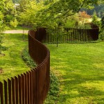 Kodiak Steel Homes for Contemporary Landscape with Cor Ten Fence