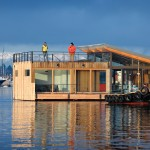 Kodiak Steel Homes for Industrial Exterior with Roof Deck