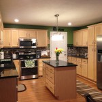 Kountry Wood Products for Contemporary Kitchen with Natural Maple Cabinets