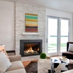 Kozy Heat for Contemporary Living Room with Fireplace