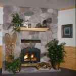 Kozy Heat for Rustic Family Room with Stone Mantel