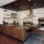 Kraus Flooring for Contemporary Kitchen with Range Hood