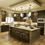 Kraus Flooring for Transitional Kitchen with Pendant Lighting