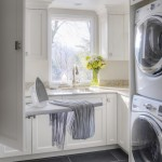 Kraus Flooring for Transitional Laundry Room with Custom